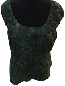 Venezia by Lane Bryant Top Green and black