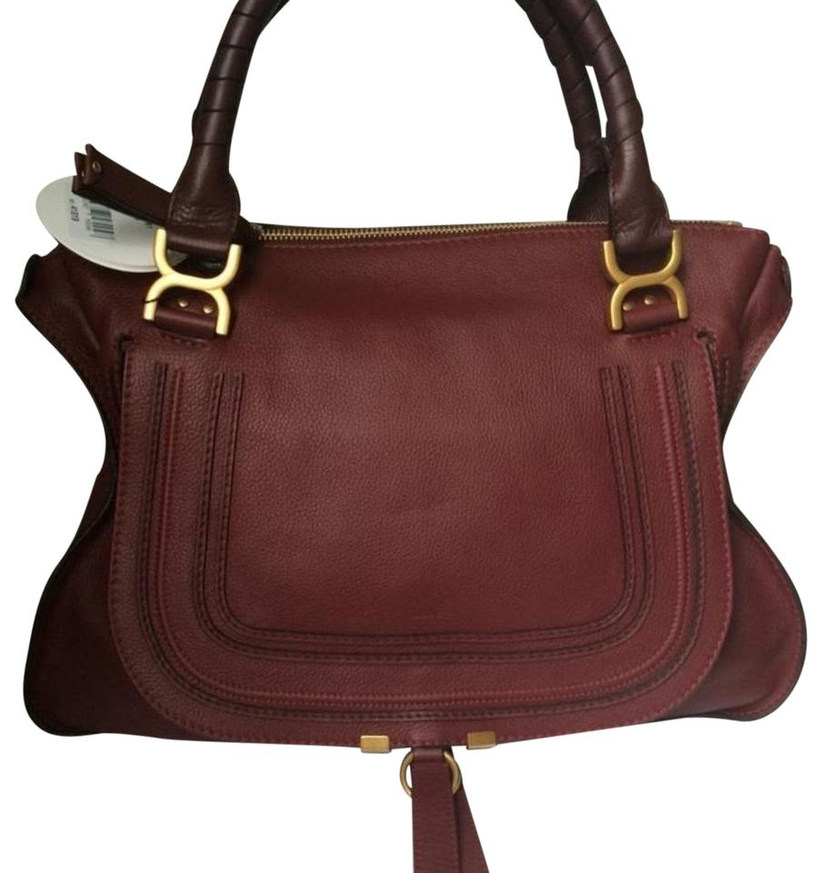 6ece4e7db098 Chloé Marcie Large Tote Plum Calfskin Leather Hobo Bag - Tradesy