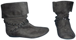 REPORT Chains Slouchy Ankle Winter Gray Boots