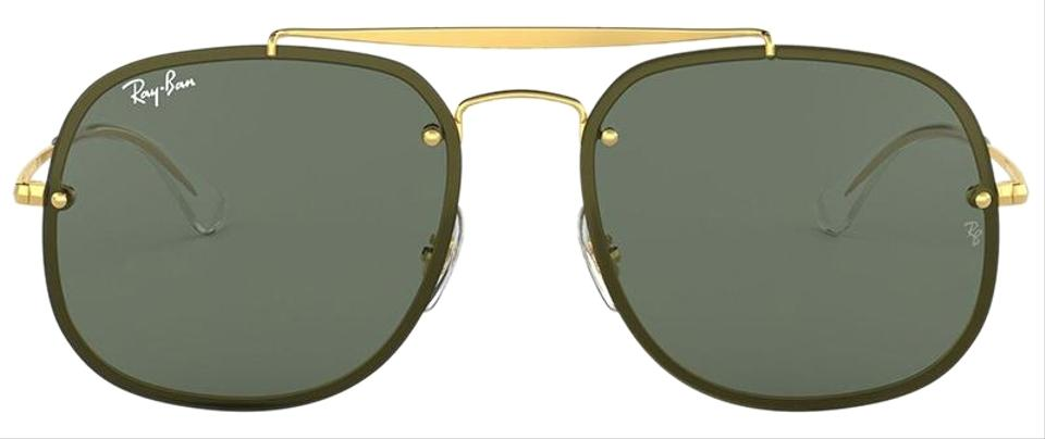 89d2fb26a86 Ray-Ban Gold W  Dark Green Lens Square Style Sunglasses - Tradesy