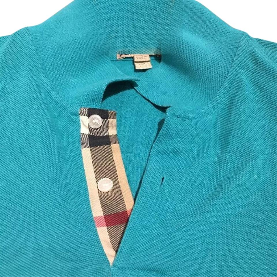 d0611c11d Burberry Made In Turkey Brit Men s Xxl Teal Green Polo Button-down ...