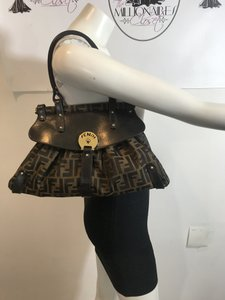 Fendi Popular Style Small F Logo Print Perfect For Everyday Excellent Condition 'mamma Zucco' Style Shoulder Bag