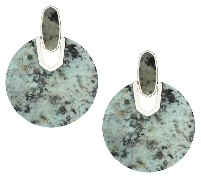 Kendra Scott African Turquoise Silver Didi Earrings Kendra Scott African Turquoise Silver Didi Earrings Image 1