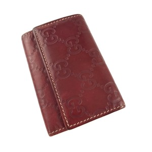 Gucci Leather Key Case Card Holder