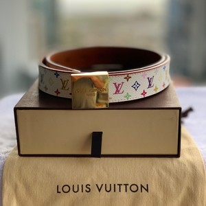 Louis Vuitton Sun Tulle Carree Monogram Canvas Multi-Color Belt