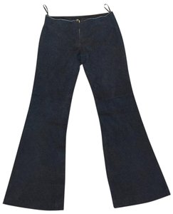 Tory Burch Suede Flare Pants Navy
