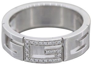 35077f376c71 Gucci Men s Gucci G 18K White Gold .25ctw Diamond Wedding Band D8