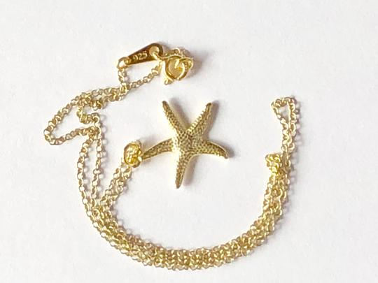 SeaglassGemsbyCherie 22k Gold Vermeil Starfish Pendant Necklace 18 inch Chain Stamped 925 Image 6