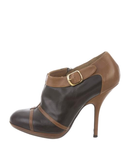Item - Bicolor Brown and Black Boots/Booties Size EU 37 (Approx. US 7) Regular (M, B)