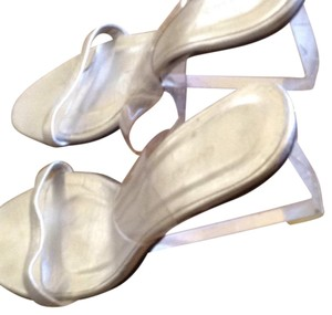 Ramon Tenza Silver with clear persex wedge.and leather. Wedges