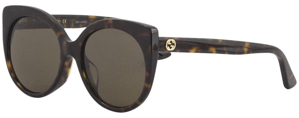 e0197b1d02d4a Gucci 002 Havana New Women s Urban Gg0325sa Havana Gold Cateye Sunglasses