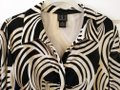 INC International Concepts Button Down Shirt cream black Image 2
