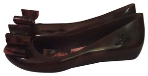 Melissa Jelly Dark Brown Flats