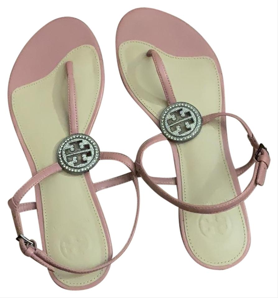 dc912c6ee1db7e Tory Burch Pink Liana Flat Leather Sandals Size US 6 Regular (M