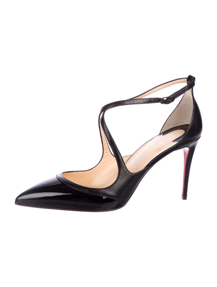 344db5a76524 Christian Louboutin Black New Patent Leather Ankle-strap 9 Pumps ...