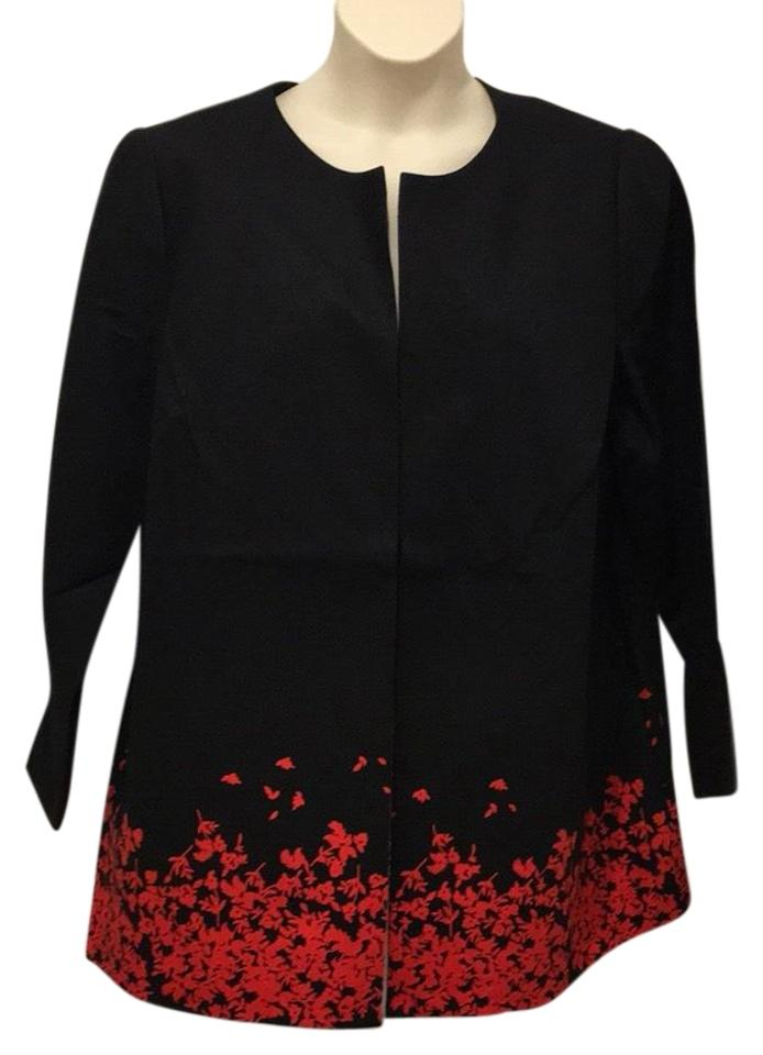 39fd2793746 The Limited Black Red Placement Jacket Floating Floral Blazer. Size  20 (Plus  1x) ...