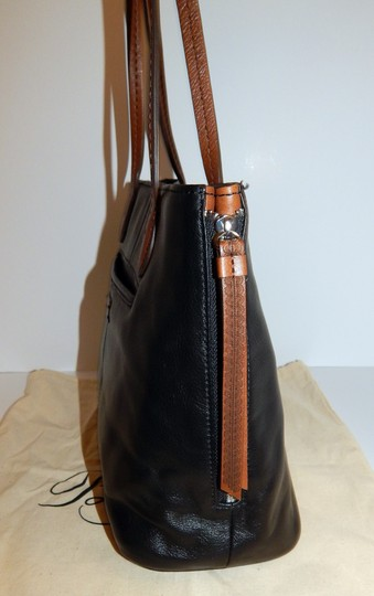 Brighton Zip Leather Expandible Tote in Black Image 3