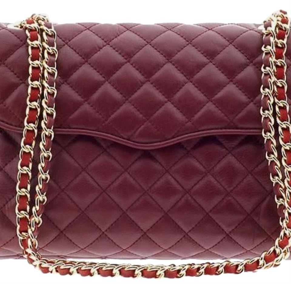 biggest discount website for discount outlet on sale Rebecca Minkoff Shoulder Quilted Affair Burgundy Cowhide Leather ...