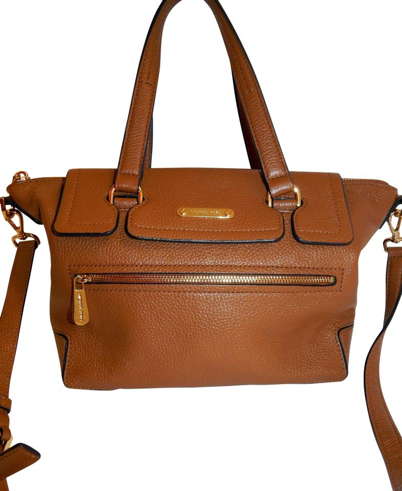 372a546bc40b Michael Kors Luggage Convertible Crossbody Brown Leather Tote - Tradesy