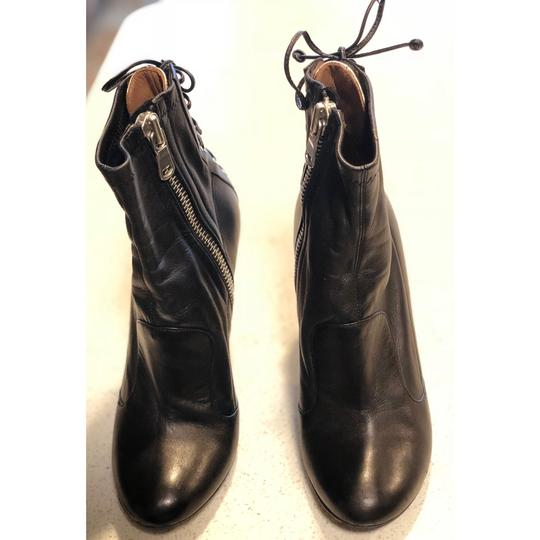 Laurence Dacade Heels Leather Lace Up Black Silver Boots Image 2