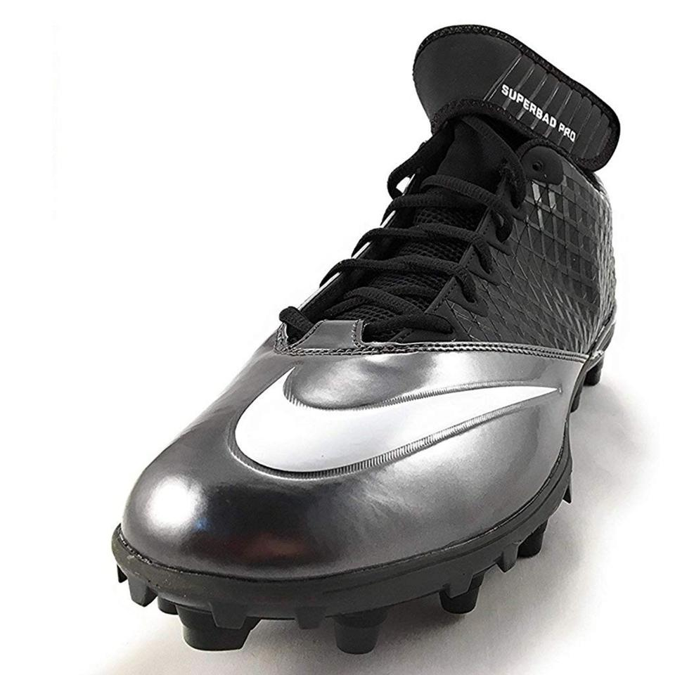 aceda21ae6fd Nike Black Metallic Silver Lunar Super Bad Pro Td Men s Football ...