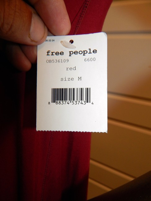 Free People short dress Red Baby Doll Stretchy on Tradesy Image 4