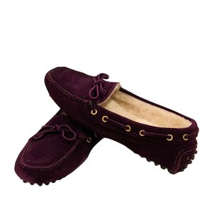 The Original Car Shoe Prada Loafer Shearling Flats