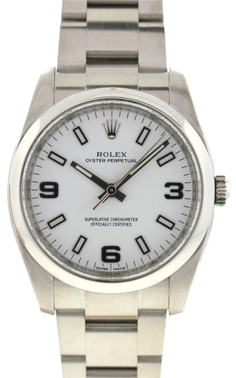 Preload https://img-static.tradesy.com/item/24491236/rolex-white-114200-oyster-perpetual-midsize-stainless-steel-watch-0-1-540-540.jpg
