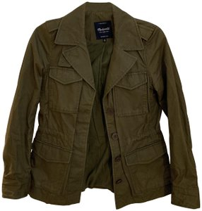 Madewell Casual Fitted Military Jacket