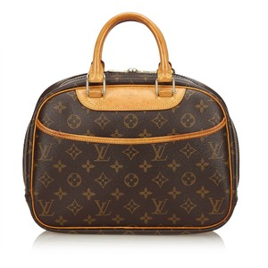 Louis Vuitton Monogram Leather Canvas Tote in Brown
