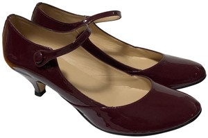 Repetto Patent Leather Mary Jane Pumps Low Heal Red Formal