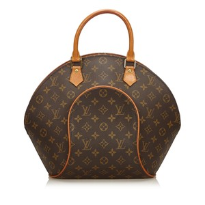 Louis Vuitton Canvas Leather Monogram Tote in Brown