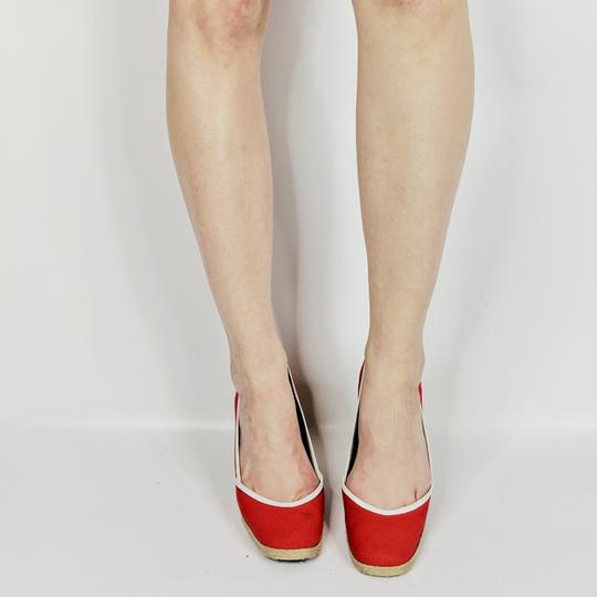 Sergio Rossi Red Wedges Image 1