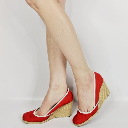 Sergio Rossi Red Wedges Image 2