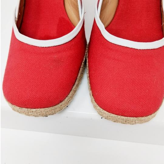 Sergio Rossi Red Wedges Image 5