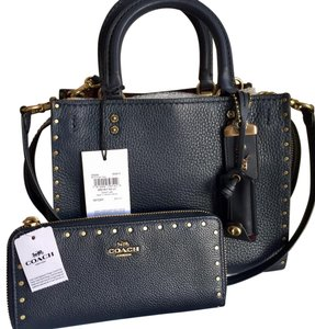 Coach Satchel in Midnight Blue