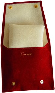 Cartier Cartier Watch Red Travel Case Pouch Box for all Model Storage