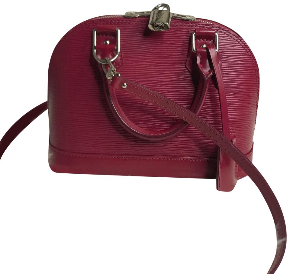 b1b7055940e9 Louis Vuitton Alma Bb Pink Purple Fuchsia Epi Leather Cross Body Bag ...