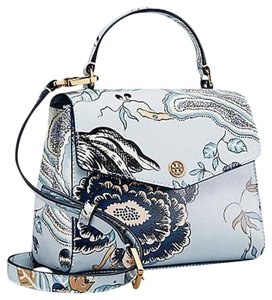 Tory Burch Satchel in Blue Happy Times