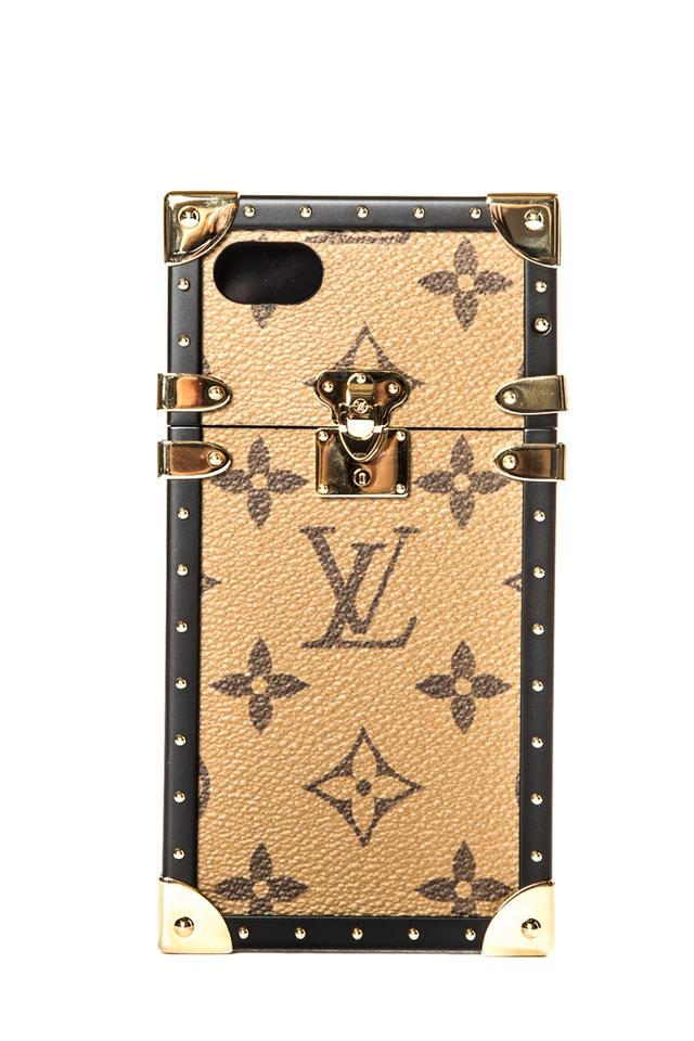 free shipping a91aa 1b1f9 Louis Vuitton Brown And Tan Monogram Eye-trunk Iphone 8 Case Tech Accessory  10% off retail