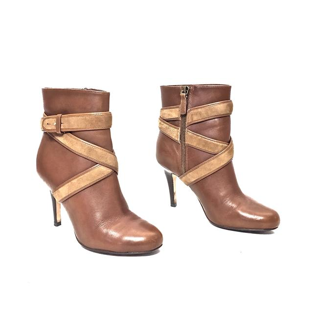 Item - Brown and Camel W Leather Round Toe Zip W/ Suede Straps Boots/Booties Size US 6.5 Regular (M, B)