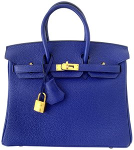Hermès Birkin Blueatoll Handbag Tote in Blue Electric
