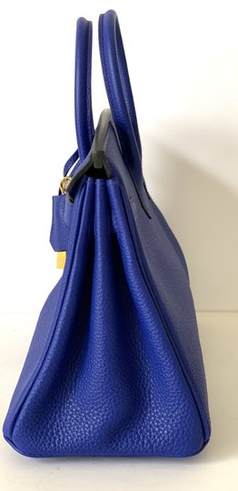 Hermès Birkin Blueatoll Handbag Tote in Blue Electric Image 5