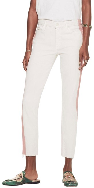 Item - Cream Light Wash The Looker Ankle Capri/Cropped Jeans Size 27 (4, S)