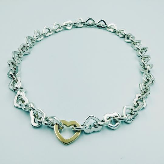 Preload https://img-static.tradesy.com/item/24492195/tiffany-and-co-2000-18k-gold-sterling-silver-heart-link-necklace-0-0-540-540.jpg