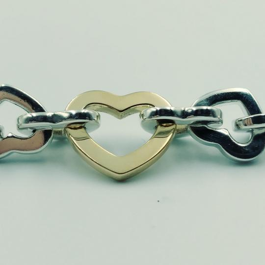 Tiffany & Co. 2000 18K Gold & Sterling silver heart link necklace Image 2