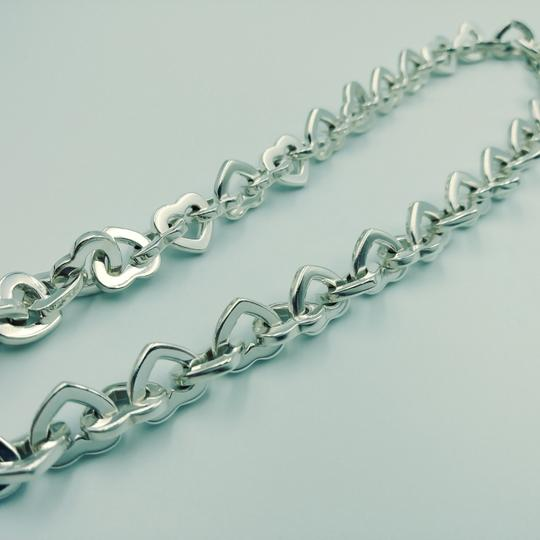Tiffany & Co. 2000 18K Gold & Sterling silver heart link necklace Image 4