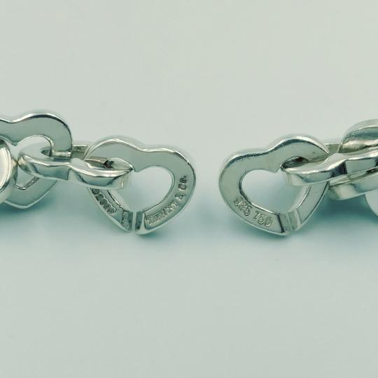 Tiffany & Co. 2000 18K Gold & Sterling silver heart link necklace Image 5