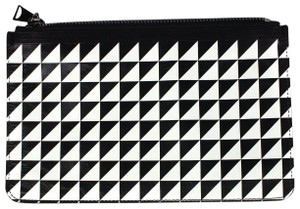 Proenza Schouler Black/White triangle pattern Clutch