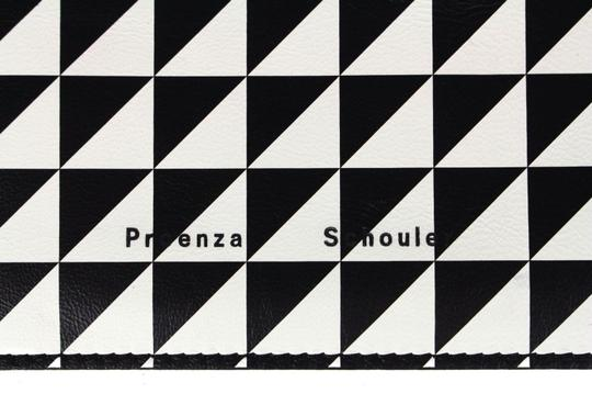 Proenza Schouler Black/White triangle pattern Clutch Image 1